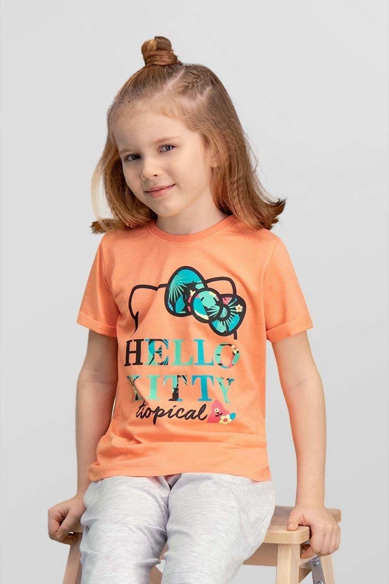 Kız Çocuk Hello Kitty Lisanslı Yavruağzı T-Shirt